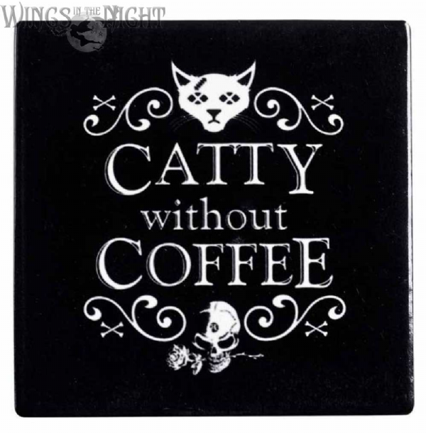 Alchemy Gothic Catty Without Coffee Coaster